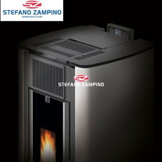 STUFA .IT 14KW ERMETICA NERA UNICAL